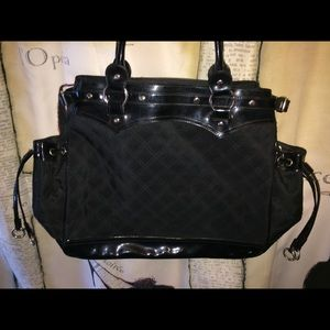 EUC-Black Quilted Shopper/Tote Bag